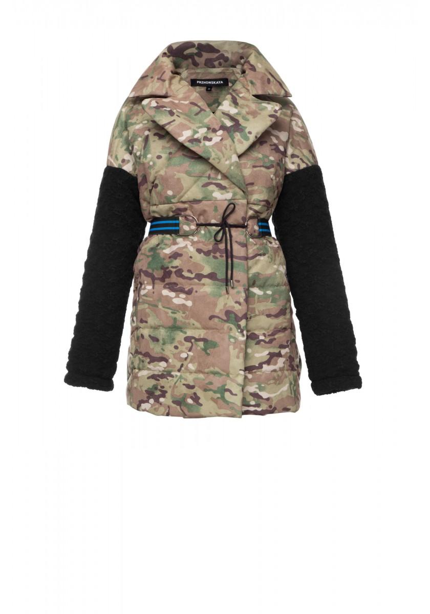 Утепленная принтованная куртка