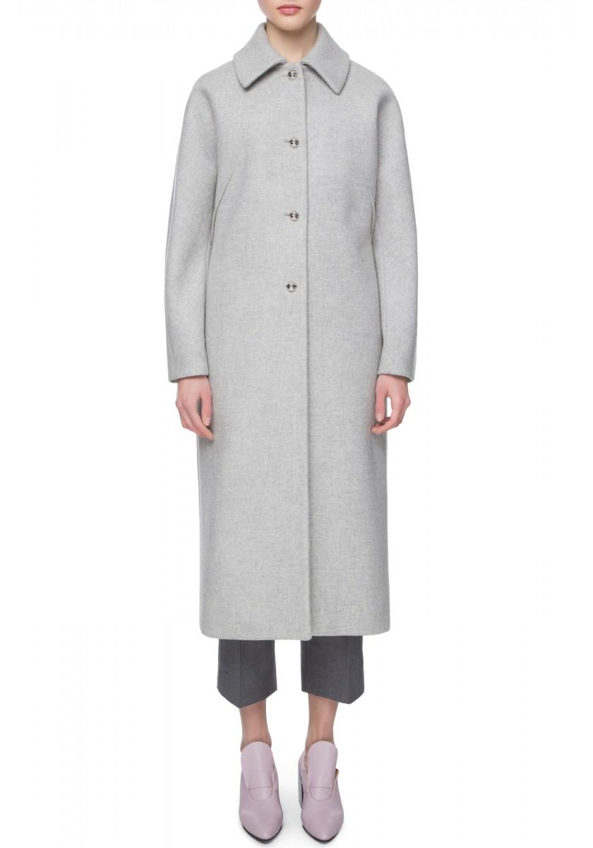 Удлиненное пальто с воротником