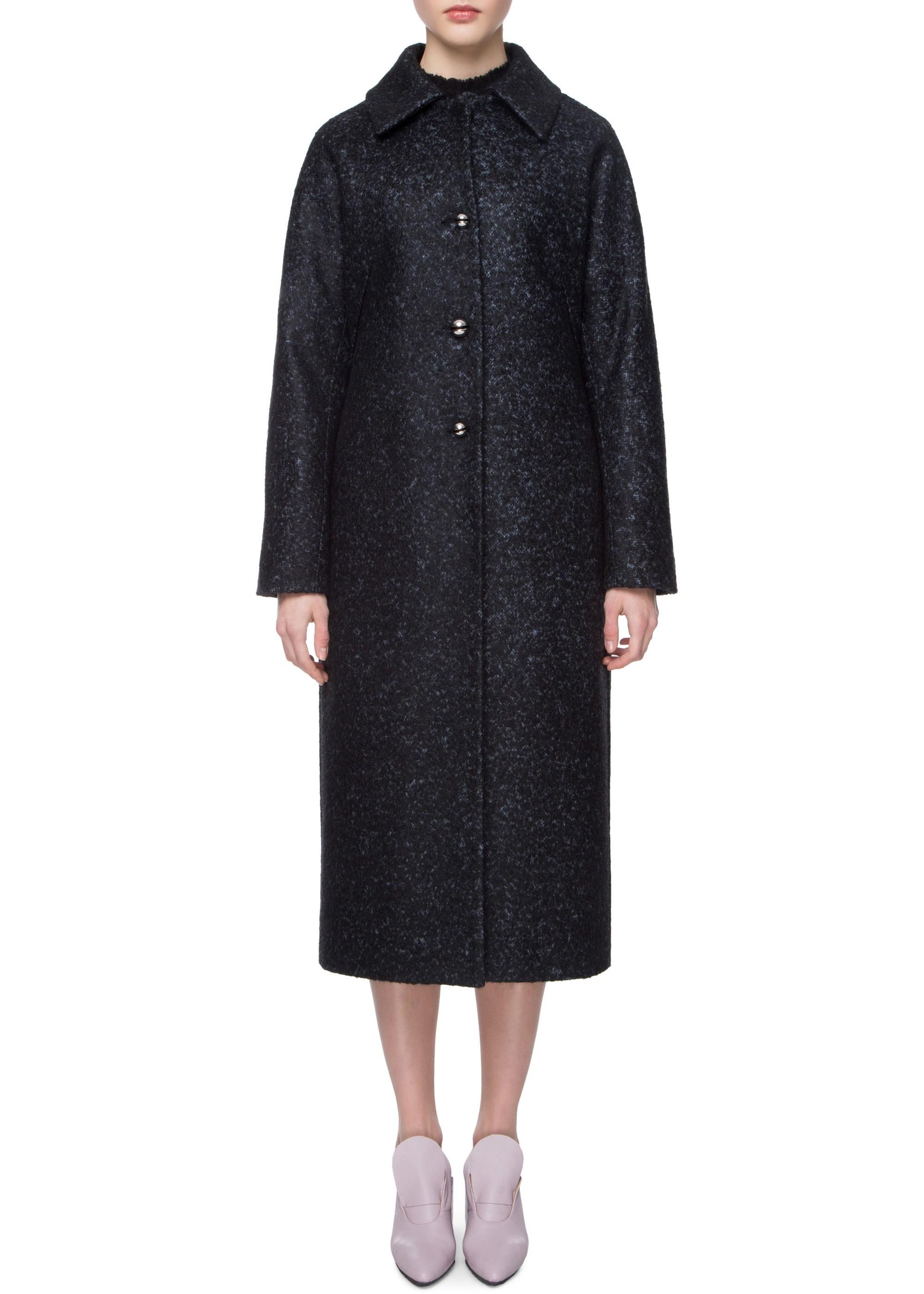 Удлиненное кашемировое пальто с воротником